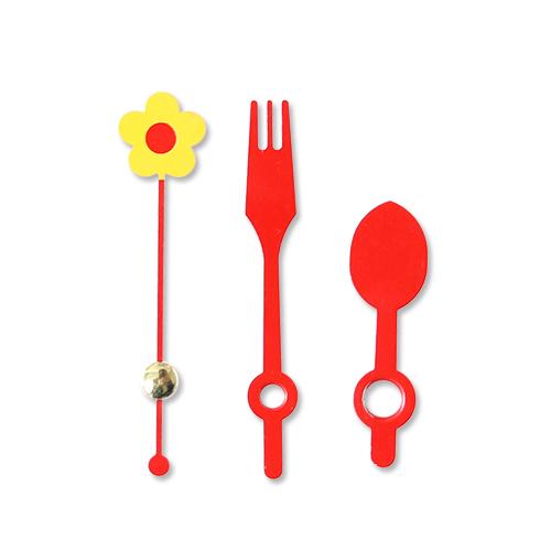 시계바늘 스푼모양*노랑&빨강*분침길이 6cm