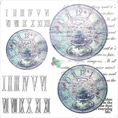(냅스) 337 수제냅킨 시계(대:15.5cm/중:13.2cm/소:11cm) (사이즈31*31cm)