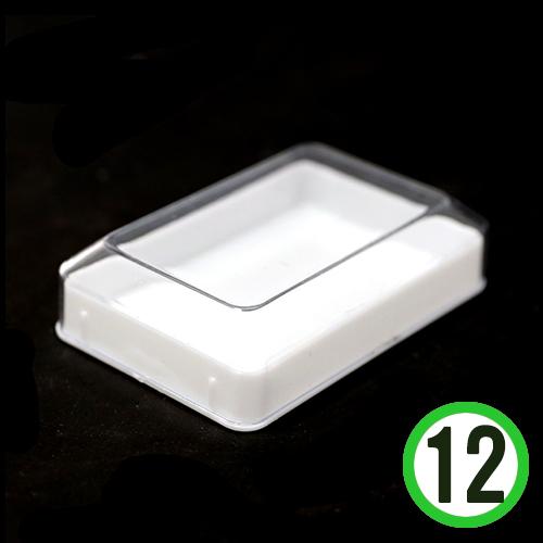 미니직사각 투명케이스 8x5.5x2.3cm (12개입) M-08-107