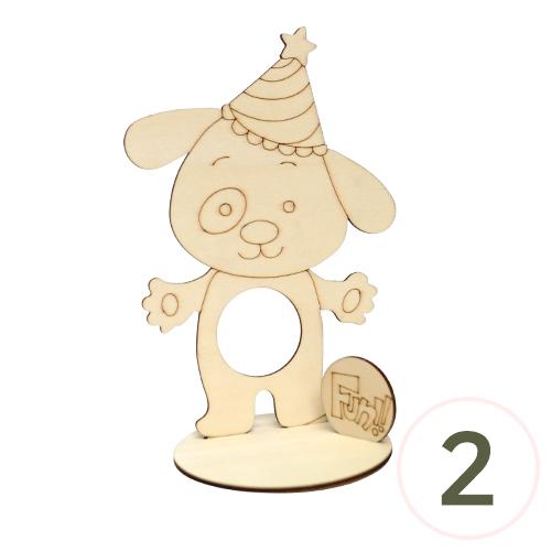 탁상 FUN 강아지 13x19cm (2개입) Q-08-210