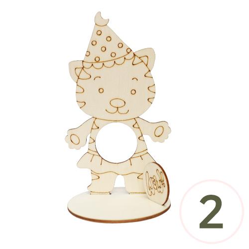 탁상 WOW 고양이 11x19cm (2개입) Q-08-209