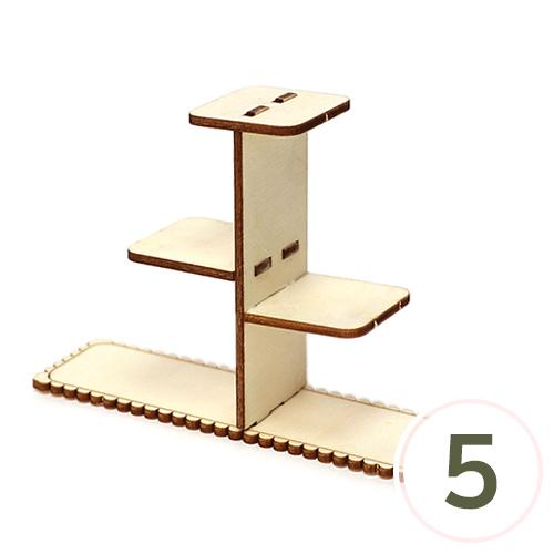 (냅스) 삼각 삼단 선반 3.5x12.5x8.5cm (5개입) S-09-209