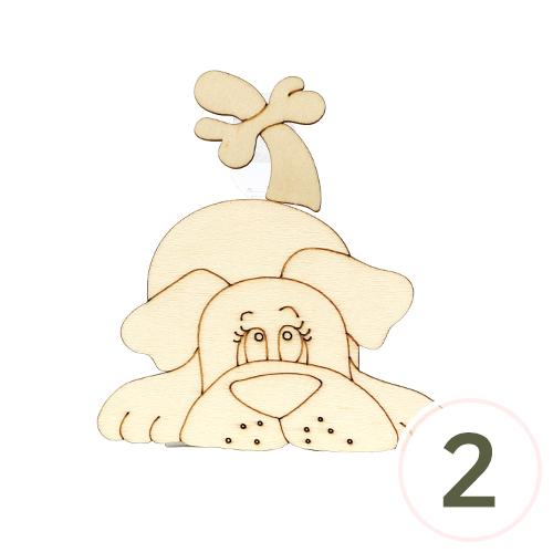 [세트용]흔들이*강아지*10x10.5cm (2개입) V-07-207