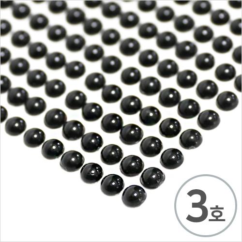 스티커 3호*6mm*검정반구*눈알용* (14x36알)  C-10-212