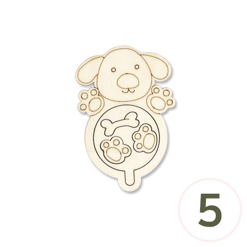 (냅스) 강아지 나침반 6.5x10cm*나침반별도구매 (5개입) F-04-203