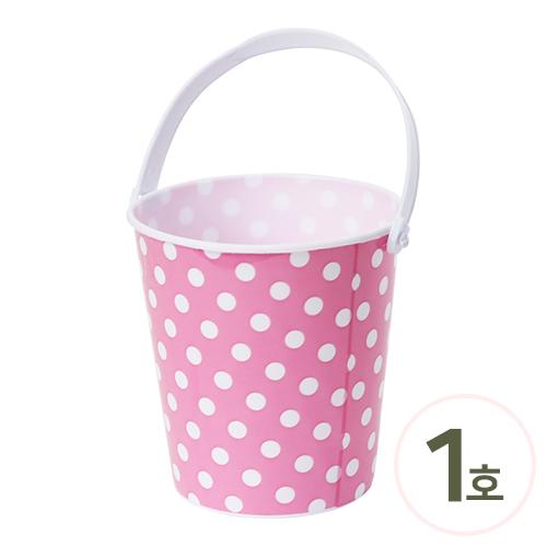땡땡이 바스킷 1호*핑크 10x10.7cm (5개입) V-09-213