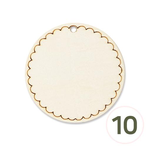 우드레이스 1구멍 원형판*특대 6.5cm (10개입) H-03-01