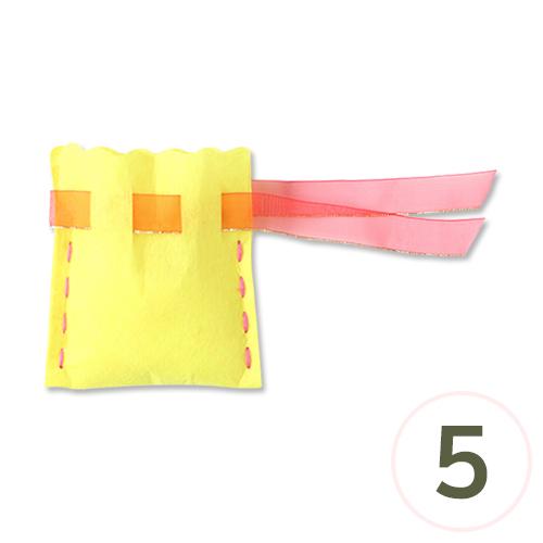 DIY 부직포 주머니 (색상 랜덤발송)12.5x14cm(5개입) P-08-107