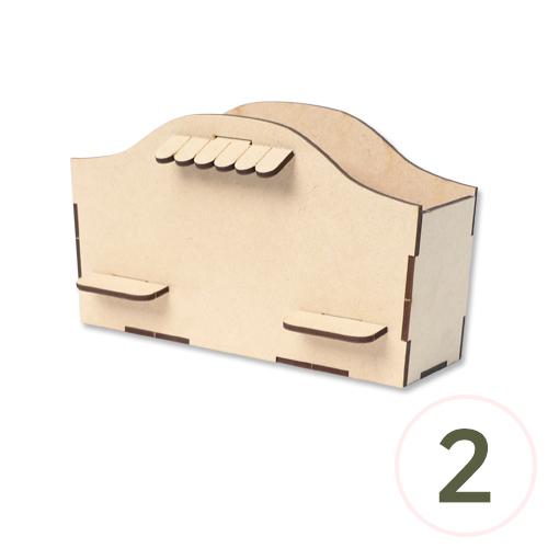 2조선반 다용도꽂이 19.5x12x8cm(2개입) W-06-204