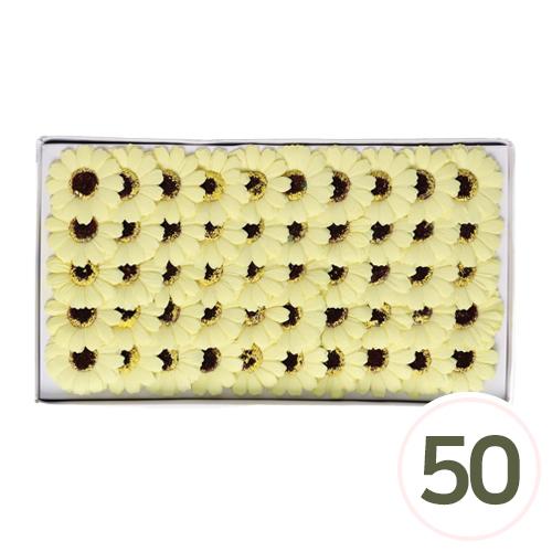 비누 거베라*연노랑 5.5cm (50개입) A-00
