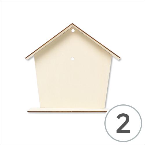 하우스 시계 데코판 23x21x7.5cm (2개입) M-06-02