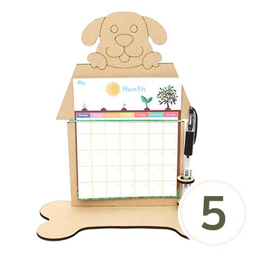 [세트상품] 종이 스케줄러+강아지 펜꽂이&데코판 23.5x25.5cm (5SET) M-09-208 R-09-108