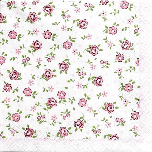 (냅스) 494 수입냅킨 33*33cm 211460 Mille Fleurs rose