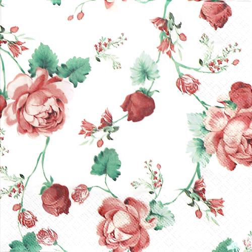 (냅스) 445 수입냅킨 33*33cm 211714 Cottage Roses
