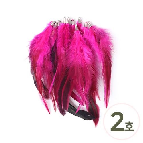 드림캐쳐깃털*2호*핫핑크 15cm (10개입) D-04-02