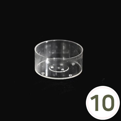 캔들홀더*원형* 3.9cm (10개입) *티라이트용 EX-06