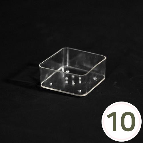 캔들홀더*사각* 3.8cm (10개입) *티라이트용 EX-06