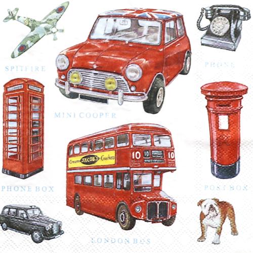 (냅스) 1595 수입냅킨 33*33cm 13309800  LONDON ICONS