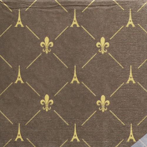 (냅스) 860 수입냅킨 33*33cm 1332554  French Style Brown