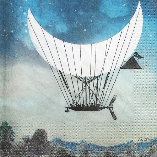 (냅스) 903 수입냅킨 33*33cm 1332683  The Moon Ship