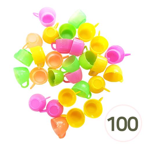 칼라 플라스틱 컵 (약100개입) R-08-211