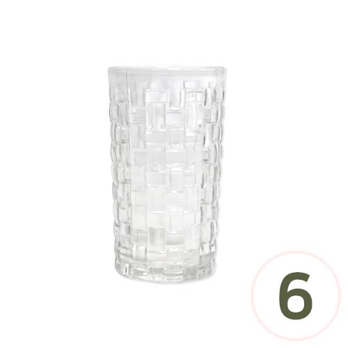 캔들용기*크리스탈 사각패턴 7.2x13cm (6개입) G-09-132