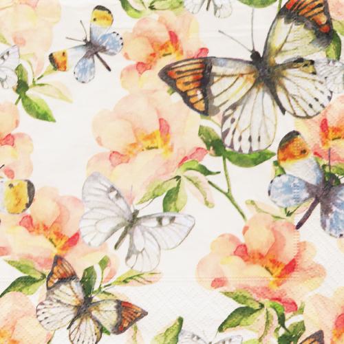 (냅스) 571 수입냅킨 33*33cm 200461  Jardin de papillons