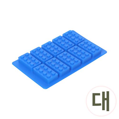SM-044*실리콘몰드*10구블럭*대 12x19cm J-11-304