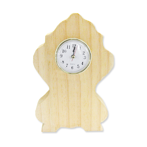 [세트상품] 원목로마시계*소*13x22x4cm+6.5cm알시계 X-08-02