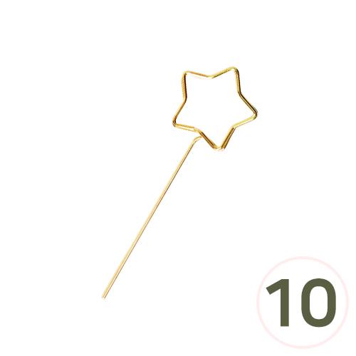 컨츄리별 명함꽂이 금색(10개입) 2.5x8cm I-09-115