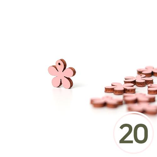 가죽꽃장식데코*핑크 1.5cm (20개입) C-07-000