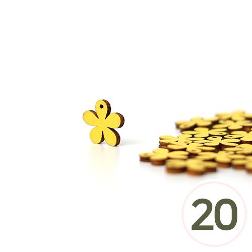 가죽꽃장식데코*노랑 1.5cm (20개입) C-07-000