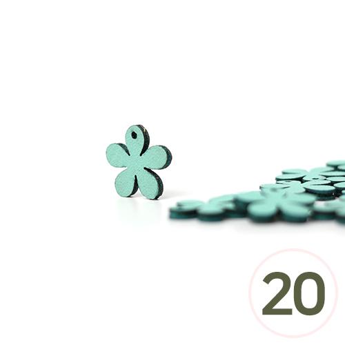 가죽꽃장식데코*민트 1.5cm (20개입) C-07-000