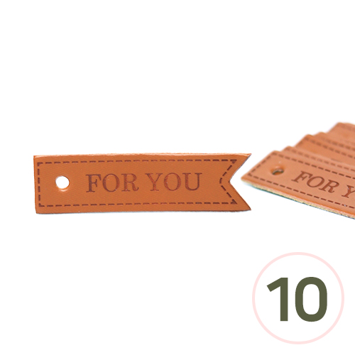 가죽태그 NO.14 *For You* 55x15mm (10개입) U-02-220