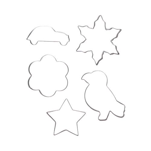 5종찍기틀(눈결정+자동차+꽃+새+별) O-09-301