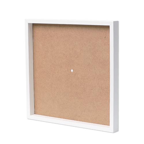 정사각 오픈시계액자*하양 (내경30x30cm) L-06-305
