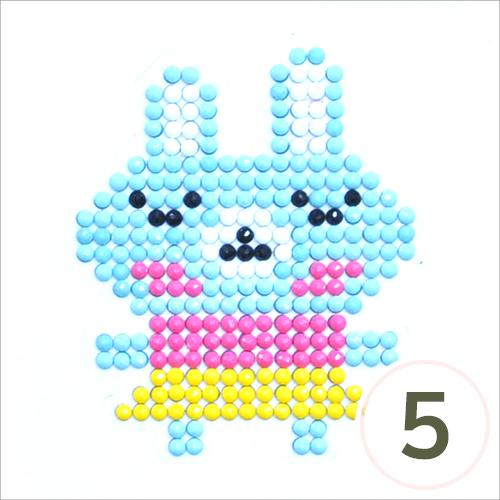 보석십자수*접착식*토끼소녀*(5개입) J-10-414