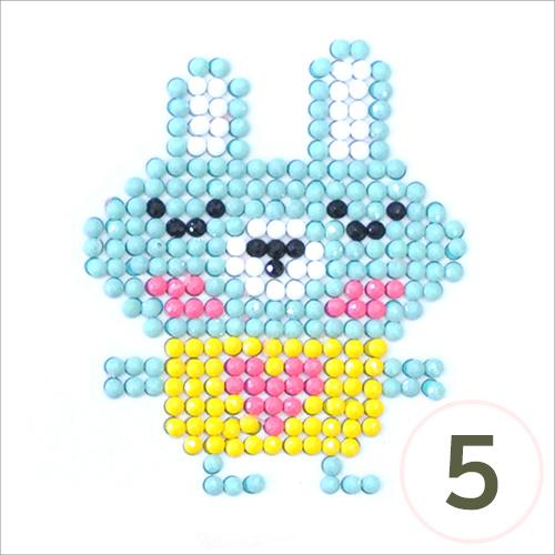 보석십자수*접착식*토끼소년*(5개입) J-10-413