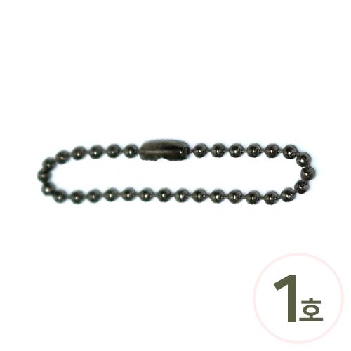 칼라군번줄1호*메탈*11cm 두께2.3mm(10개입) S-01-000