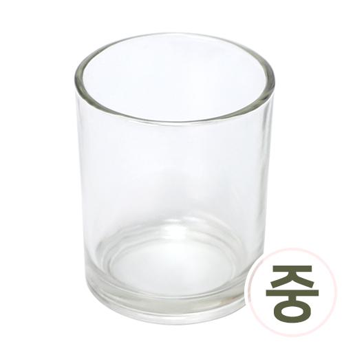 유리용기 원형컵*투명*중 6x7.3cm Z-06-428