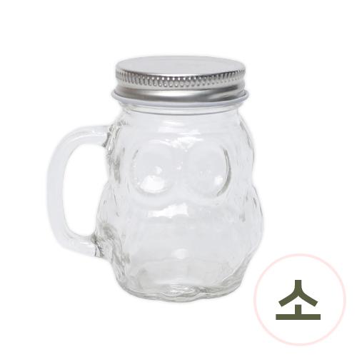 캔들유리병*부엉이*소 8x8.5cm W-06-206
