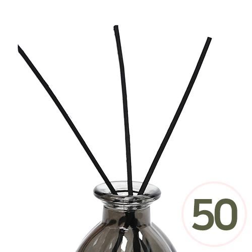디퓨저스틱*일자형*검정 20cm 두께3mm (50개입) O-02-109