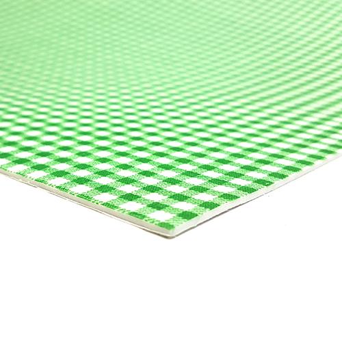 EVA패브릭*체크*초록*30×40cm*접착식 Z-01-418