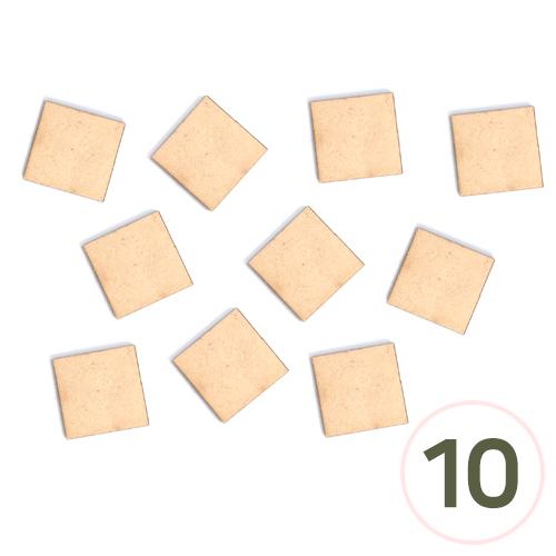 MDF정사각판 두께3mm 3.3x3.3cm (10개입) R-06-03