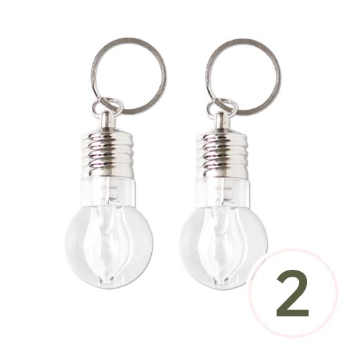 LED전구후레쉬*열쇠고리*주황등*2.8x5.5cm(2개입) P-06-208