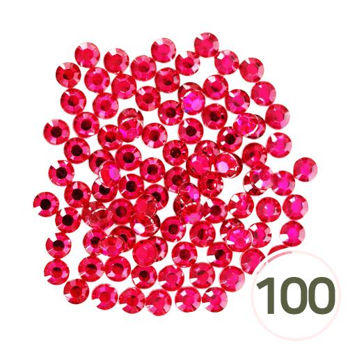 10mm 스톤*핫핑크 (100개입) D-06-01