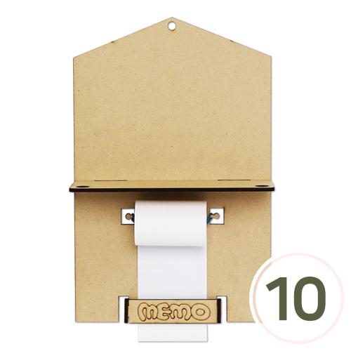 [세트상품] 하우스 롤 메모판(A+B) (10개입) EX-09-101 (고무줄 미포함)