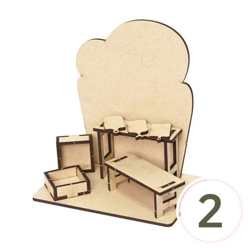 식빵 탁상 데코판 (2개입)*14×15.5×9cm L-04-206