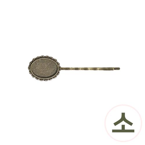 청동 실핀*타원*소 6.5x1.8cm (5개입) G-04-130