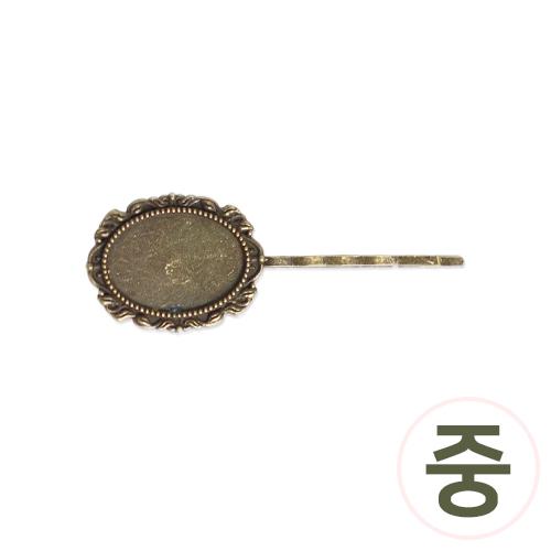 청동 실핀*타원*중 7x2.6cm (5개입) G-04-131